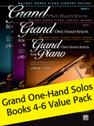 Grand One-Hand Solos Books 4-6 Value Pack