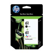 Hp #61 Black & Colour Ink Cartridge Pack 190 Pages Bk & 165 Pages Clr