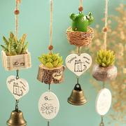 Creative Potted Plants Vase Windchimes Hanging Campanula Crafts Car Home Decor Ornaments