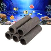 (5 Tubes / Set) Aquarium Ceramic Shrimp Fish Shelter Tubes House Decor
