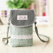 Women Flower Pattern 6inch Shoulder Bag Phone Bag For Phones