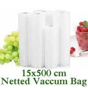 Thickened 15x500 Netted Food Vacuum Bag Food Vegetabel Fruit Meat Fresh Vacuum Sealing Bag