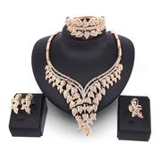 Luxury Gold Bridal Jewelry Sets