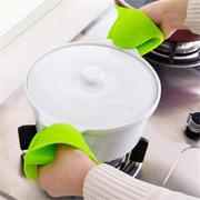 Silicone Gloves Oven Heat Insulated Finger Microwave Non-slip Gripper Pot Holder 1 Pcs