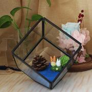 Geometric Glass Flower House Home Living Room Decoration