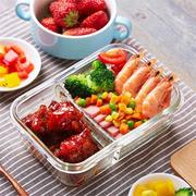 Leak-proof Glass Lunch Box with Compartments Microwave Lunch Box Divider Storage Container