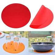 DIY Silicone Round Baking Mat Oven Microwave Cookie Pizza Sheet Thin Mat