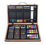 80pcs/set Painting Supplies Deluxe Wooden Art Box