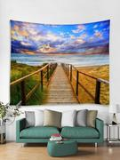 Wooden Wharf Print Art Decoration Wall Tapestry