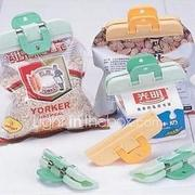 2pcs Plastic Strong Food Bag Clip Fresh Snack Food Storage Bag Sealer