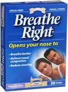 Breathe Right Nasal Strip Tan Regular 30 Pack