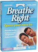Breathe Right Nasal Strip Clear Regular 10 Pack