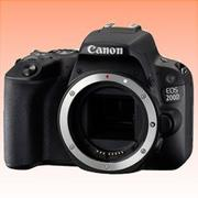 New Canon EOS 200D 24.2MP Body Digital Camera Black (FREE INSURANCE + 1 YEAR AUSTRALIAN WARRANTY)