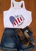 Faith Family Freedom Tank - White
