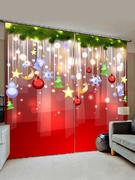 Christmas Star Pattern Window Curtains