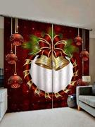 Christmas Bell Window Curtains