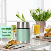 700ML HAERS Vacuum Food Burning Pot Insulated Food Jar Stainless Steel Thermal Lunchbox
