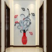 3D Flower Vase Wall Stickers Mirror Art Mural Home Room Office Decor Decal DIY Wall Art