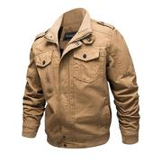 4XL Military Epaulet Cotton Jackets