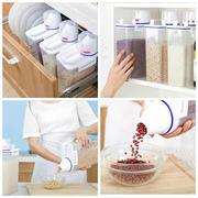 Kitchen Food Cereal Grain Bean Rice Hand With Measuring Cup Plastic Plastic Storage Container
