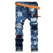 32-40 Mens Biker Ripped Jeans