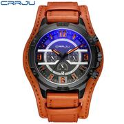 Waterproof Military Leather Watch