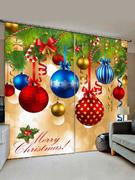 Christmas Ball Window Curtains