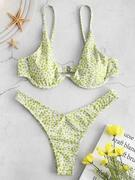 ZAFUL Printed Underwire Bikini