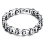 Punk Bike Chain Bracelet Rock Motorcycle Bike Stainless Steel Chain Bracelet