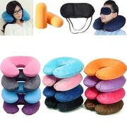 Portable Inflatable U Shaped Travel Air Pillow Neck Support Head Rest Cushion Gift
