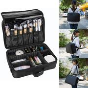"Casual 13.5"" Cosmetic Bag Makeup Brush Case Storage Toiletry Organizer Artist Travel Bags"