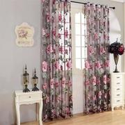 Flower Transparent Tulle Curtains Window Sheer Curtain