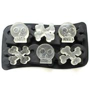 Skull & Bone Crossbones Ice Cube Chocolate Soap Tray Mold Silicone Party Maker Bar Accessories