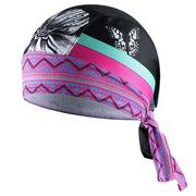 Women Breathable Sweat Outdoor Bike Bicycle Bandana Hat Cycling Helmet Cap Pirate Headwear