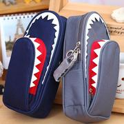 Shark Canvas Pencil Case With Code Lock