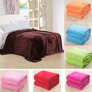 150x100cm Flannel Blanket Sofa Bed Soft Coral Fleece Bedding
