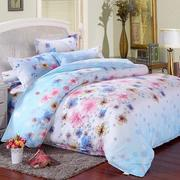 3 Or 4pcs Flower Paint Printing Bedding Sets Pillowcase Quilt Duvet Cover Single Twin Queen Size