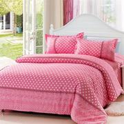 3 Or 4pcs Dot Pattern Paint Printing Cotton Blend Bedding Sets Single Twin Queen Size