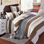 3 Or 4pcs Stripe Cotton Blend Paint Printing Bedding Sets Single Twin Queen Size