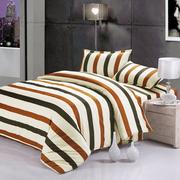 3 Or 4pcs Stripe Dot Cotton Blend Paint Printing Bedding Sets Single Twin Queen Size