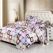 3 Or 4pcs Letters Words Cotton Blend Paint Printing Bedding Sets Quilt Cover Single Twin Queen Size