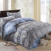 3 Or 4pcs Rosemary Flower Reactive Printing Bedding Sets Duvet Cover Single Twin Queen Size