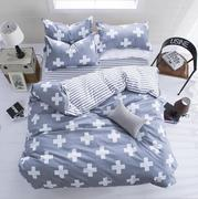 3 Or 4pcs Polyester Fiber Western Style Reactive Printing Bedding Sets Quilt Duvet Cover