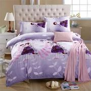 3 or 4pcs Suit Lover Printed Reactive Dyeing Polyester Fiber Bedding Sets Single Twin Queen Size