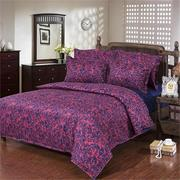3 Or 4Pcs Vintage Single Twin King Size Bed Sets Pillowcase Polyester Quilt Duvet Cover
