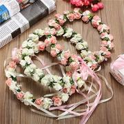 Flowers Floral Hairband Bride Branch Wedding Wreath Fairy Crown Head Accessories