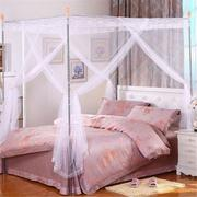 180X220cm Three-door Style Mosquito Net Bed Netting Canopy Insect Bug Curtain King Size