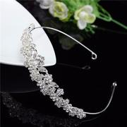 Women Bridal Hair Jewelry Crown Leaves Flower Headband Hair Accessories