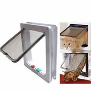 Cat Puppy Dog Safe Security Flap Lock Frame Door Gate Medium Small White Pet Supplies
