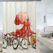 New Classical Design Creative Octopus Pattern Shower Curtains Bathroom Decor Supplies